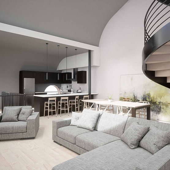 Matthews Loft Living Room
